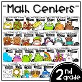 Math Center Bundle - Second Grade