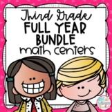 Third Grade Math Centers Bundle