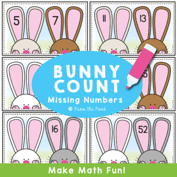 Math Center - Bunny Count Write and Wipe Cards