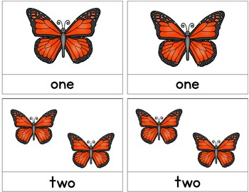 Math Center Butterfly Bundle / Montessori Style / Hands-on Activities