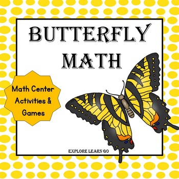 Math Center Butterfly Bundle / Montessori Style / Hands-on