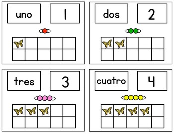 Spanish & English Version Math Center Butterfly Bundle / Hands-on Activities