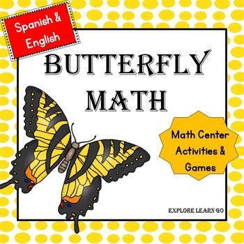 Spanish & English Version Math Center Butterfly Bundle / H