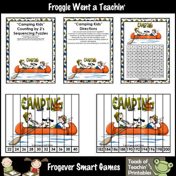 Math Center -- Camping Kids (number sequencing puzzles)