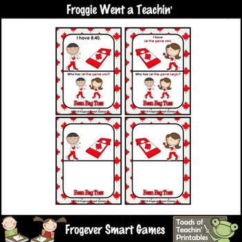 Time--Canada Beanbag Toss I Have... Who Has? 5 Minute Intervals Set 5