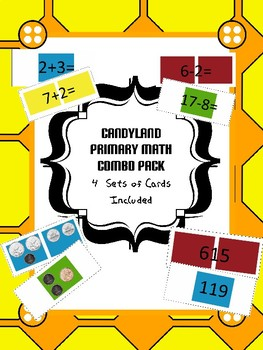 Math Center Candyland Combo Pack - Add, Subtract, Money, Number Reading