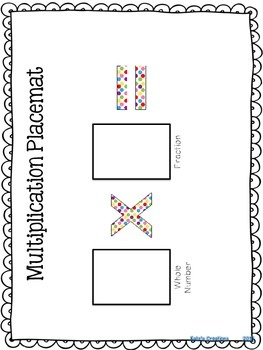 Math Center Card Game: Multiplying a Whole Number Times a Fraction