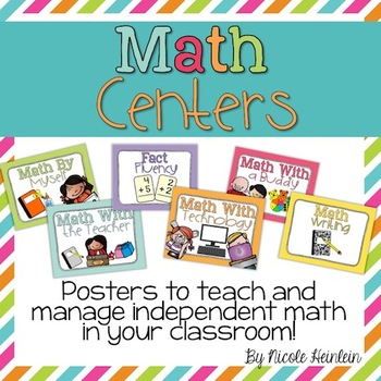 Math Center Cards & Posters