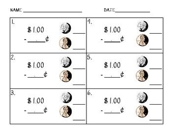 Math Center: Change From A Dollar