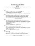 Math Center Checklist