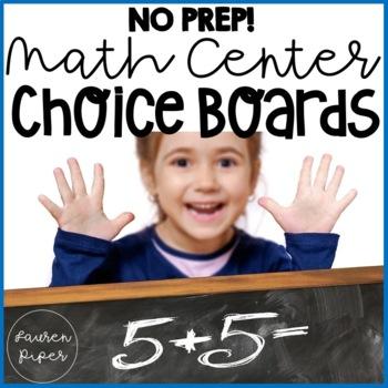 Math Center Choice Boards