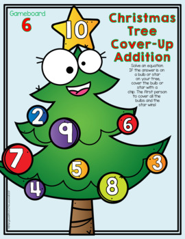 Math Center: Christmas Tree Cover-Up Addition
