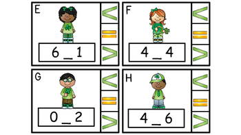 Math Center Clip Cards, Greater Than, Less Than, Equal To Grades K - 2