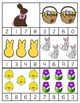 Math Center: Clip Cards, Numbers 1-10, Easter