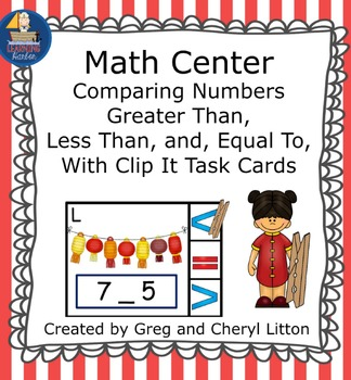 Math Center  Numbers Less Than, Greater Than, Equal To, Chinese New Year