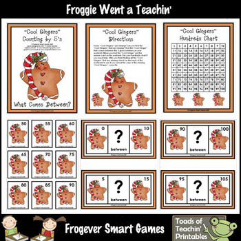 Math Center -- Cool Gingers (counting by 5's/between)
