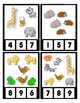 Math Center Count 0 to 20 ~ Cute Animals ~ Preschool Clip Cards Themed Work