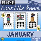 Math Center: Count the Room + Count On {JANUARY BUNDLE}