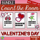 Math Center: Count the Room + Count On {VALENTINE'S DAY BUNDLE}