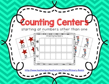 Math Centers Counting 0 to 50