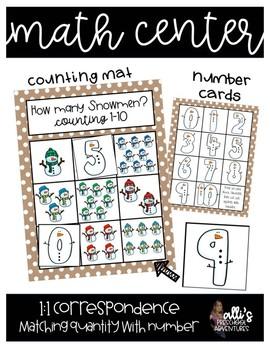 January Math Center - Counting Snowmen