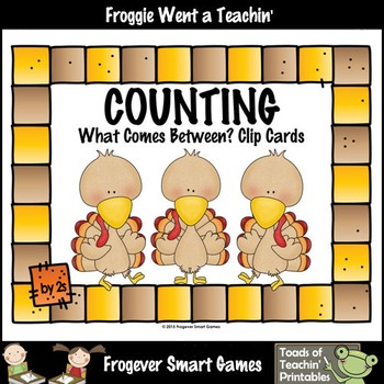 Counting--Skip Counting by 2s What Comes Between? (Thanksgiving)