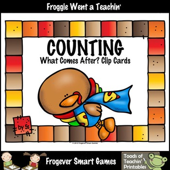 Math Center--Counting by 5s What Comes After? (Thanksgiving Theme)