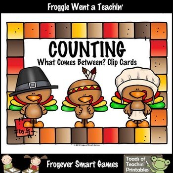 Math Center--Counting by 5s What Comes Between? (Thanksgiving Theme)