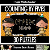 Skip Counting--Counting by Fives Puzzles (Come and Eat Bobbleheadz)