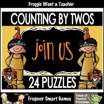 "Skip Counting--Counting by Twos Puzzles ""Join Us"""