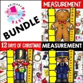 Math Center DECEMBER BUNDLE Christmas Measurement Centers