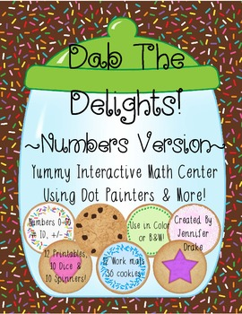 Math Center ~Dab The Delights!~ Interactive Center Using Dot Painters & More!