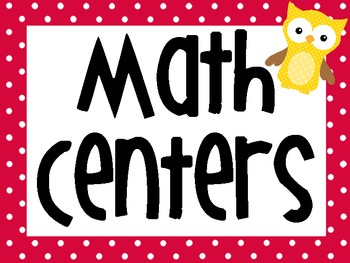 Math Center / Daily Counts Signs