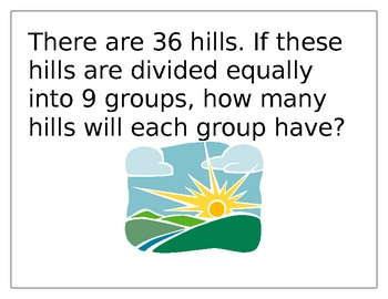 Math Center - Division Word Problems