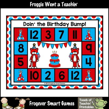 Read Across America--Doin' the Birthday Bump (Addition with sums of 12 or less)