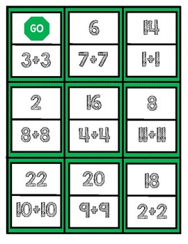 Math Center Dominoes: Doubles