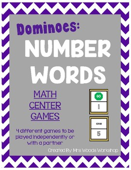 Math Center Dominoes: Number Words