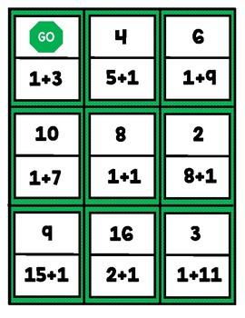 Math Center Dominoes: Plus One