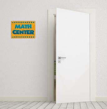 Math Center Sign