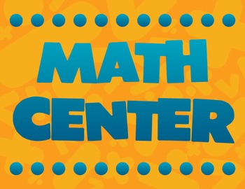 Math Center Sign