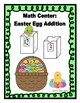 Math Center: Easter Egg Addition Sums 1 - 20