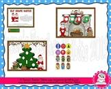 Math Center Elf Shapes Christmas File Folder Game