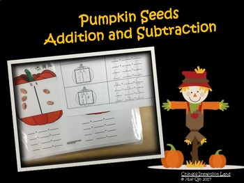 Math Center Fact Families: Pumpkin Seeds Addition and Subtraction