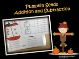 Math Center Fact Families: Pumpkin Seeds Addition and Subtraction