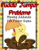 Math Center File Folder Game Missing Addends