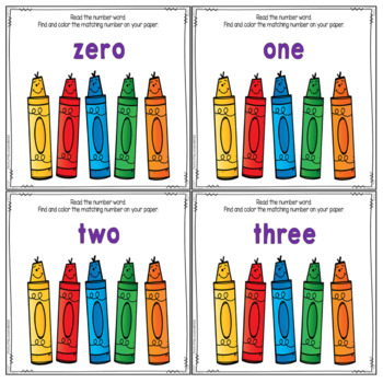 Math Center: Find And Color The Numbers 0-10