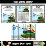 """Counting by Ones -- """"Fishin' Kids"""" (number sequencing puzzles)"""