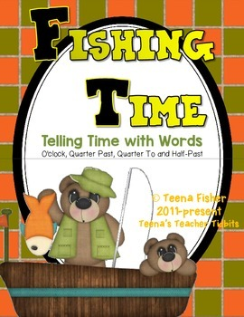 Math Center Fishing Time Telling Time With Words
