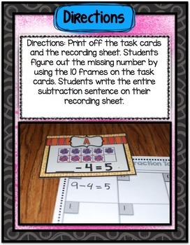 Math Center ~ Flower Subtraction