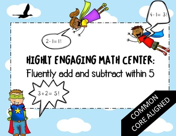 Kindergarten Math Center- Fluently add and subtract within